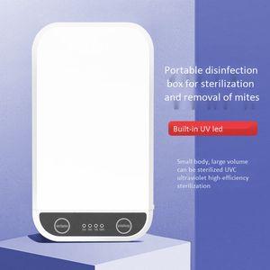 Multifunktionale Sterilisation Dual UV Handy Sterilisator UV tragbare Maske Key-Kopfhörer-Uhr Löffel 99% Desinfektion Box