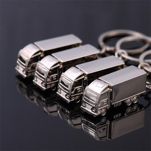 Stereo 3D regalos Big Truck Moda Llaveros creativas clave hebilla KeyRing cadena pendiente colgante de la cintura recuerdos 1 7HL D2
