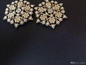 Fashion vintage drop earrings ! Top classic flower women earrings jewelry Top earrings with flannel bags for wedding jewelry gift