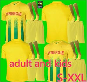 Hommes + enfants 20 21 FC Nantes domicile maillot de football maillot de foot 2020 2021 SIMON LOUZA A TOURE BLAS COCO COULIBALY chemises de football
