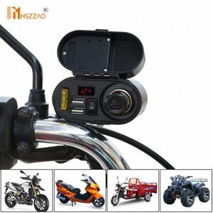 방수 5V-3A 오토바이 듀얼 USB 충전기 담배 라이터 핸들 마운트를 들어 ATV, 충전 자전거 액세서리 siA5 번호
