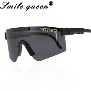 Pit Viper TR90 поляризованные Мужчины Мода Дизайн Rimless площади Солнцезащитные очки Зеркало вождения солнцезащитные очки UV400 óculos