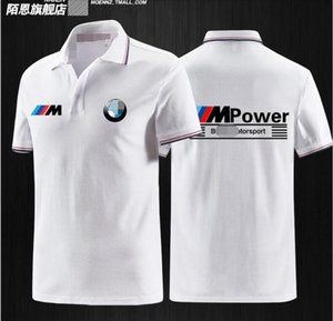 BMW BMW سباق دعوى لعبة البولو قميص بأكمام قصيرة البوليستر التجفيف السريع طية صدر السترة الرجال تي شيرت دراجة نارية ركوب انحدار قميص بولو مع نفسه