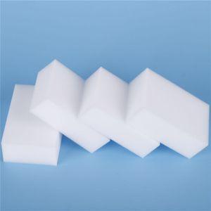 100Pcs magici della spugna bianca della melammina dell'eraser della spugna Per la cucina tastiera auto Bagno a secco melamina Clean alta desity 10x6x2cm EEA1892