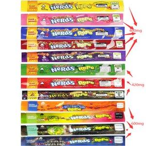 Esvaziar medicado Nerds Rope Embalagem Bag Exotic Gummies Doce Edibles Cheiro Proof embalagem de saco 4 14 estilos personalizados Fast Shipping AKUBe