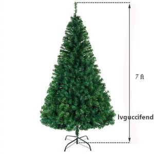 7 FT Artificial Christmas Tree Xmas Pine Tree with Solid Metal Legs Perfect for Indoor and Outdoor Christmas Decoration Tree Green