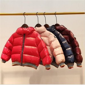 Brand boy Girls New Baby Down jacket thick hooded 90% Duck down children s winter down coat Children s clothes size 100-150