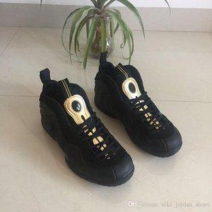 2018 Foam One Pro Mann-Basketball-Schuhe Penny Hardaway Schwarz Metallic Gold billig Mens-Sport-Turnschuhe 624041-009 Marken-Schuhe Komfort
