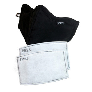 PM2.5 Filtre PM25 Kağıt 5 Katman Maskesi Pad Karşıtı Haze Toz Ağız Conta Karbon Vana maskeleri Yıkanabilir Filtre Maskesini Aktif
