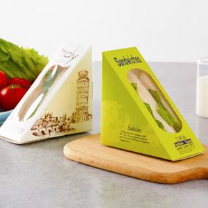 50PCS 크리 에이 티브 샌드위치 상자 빵 케이크 디저트 선물 상자 파티 호의 종이 포장 장식 컨테이너 박스 베이킹