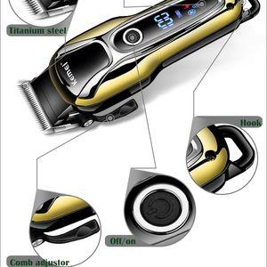 Kemei Km1990 машинки для стрижки волос Профессиональный триммер волос Мужчины Beard Бритва электрическая машинка для стрижки волос LCD монитор 0 Мм Лысый Beard Trimmer 5 YghdB