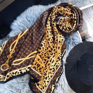 New Brand Silk Scarf for Women Scarf 2020 Summer Design Long Scarves Shawls Wrap with Tag 180x90cm Shawls