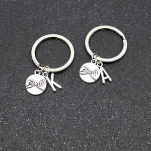26-Buchstaben-Handschlüsselanhänger Eltern-Kind-Familie Schlüsselanhänger Freundschaft Abkommen Schwestern Keychain Paare Keychain