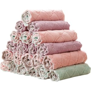Rag Two Sided Coral Velvet Long Pile Towels Wiping Reunite With Water Uptake Hanging Oil Free Dish Towel Factory Direct Selling 0 49xm p1