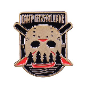 Friday the 13th Camp Crystal Lake Lapel Pin Beware serial killers in hockey masks