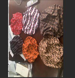 Designer Durag femmes musulmanes extensible sommeil Turban Chapeau Foulard Bonnet Silky Chemo Caps Beanies Cancer Couvre-chef Head Wrap Accessoires cheveux