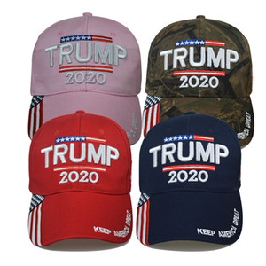 15styles Trump Baseball Cap Keep America Great Again Caps 2020 Campaign USA 45 American Flag Hat Canvas Embroidered Party Hats GGA3611
