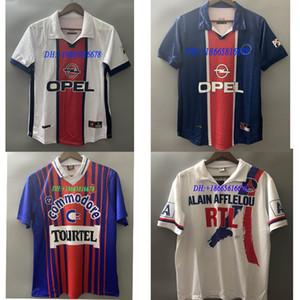 90 92 Retro Paris ANELKA OKOCHA WEAH Soccer Jersey 1993 94 95 96 2000 01 98 99 Wörns Maillot de football Ronaldino ancien maillot manches courtes