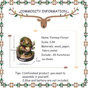 Neueste Puppenhaus Möbel Diy Miniatur 3D Holz Miniaturas Puppenspielwaren für Kinder Geburtstags-Geschenke Fantasy Forest Y005 MX200414