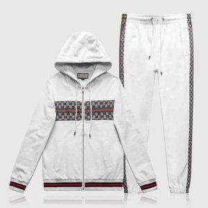 2020 New Smiley Printed Hoodies Sets Tracksuit Sweatshirt Fleece Hoodie+Sweatpants Jogging Homme Pullover Two-Piece Set Sport Suit