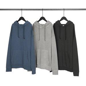2020 Hip Hop Hoodies camisola Streetwear Imprimir Homens Harajuku rasgado punhos invertida Hoodies Garment-waHoodie Inverno Fleece camisola de algodão