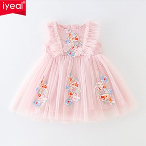 IYEAL Princess Baby Girl Dress Party Birthday tutu Dress Floral Baptism Wedding Dresses For 0-2y Newborn Clothes Vestido Infanti