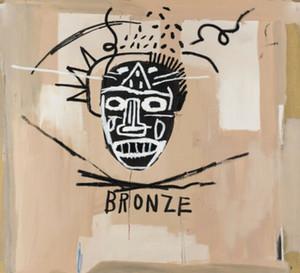 arte Jean Michel Basquit pintada bronce Decoración Artesanías / impresión de HD pintura al óleo sobre lienzo arte de la pared de la lona representa 4026