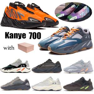 2020 kanye wave runner 700 gris sólido estáticas carbono Teal Azul Naranja de fósforo zapatos para correr reflexivo Tie-dye inercia V2 Vanta para hombre zapatillas de deporte