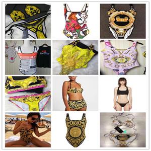 Luxury Versace Designer Swimsuit Bikinis Luxury Womens Brand Bikini with Swimwear for One-Piece Designer Sexy Bikini Black