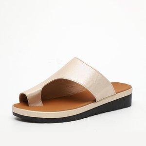 Zapatos ABER Mujeres cómodo llanura Plataforma casual de las señoras dedo gordo del pie del pie sandalias corrección ortopédica juanete Corrector flip-flop