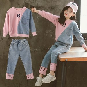 Children Clothing Set Hoodie Jeans Kids Tracksuit 2020 Spring Girls Costume Kids Sport Suits for Girls Clothes 6 8 10 12 Years