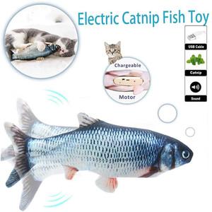 2020 Amazon Hot Verkauf kreative Simulation Anti Plüsch Fisch Katzenminze Pet Chewy Katzenspielzeug Kinder Spielzeug Biss zappeln Spielzeug DHL schnelles Verschiffen