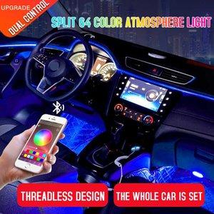 Led Araba İç Ortam Atmosfer Mood Işık Rgb App Uzaktan Kumanda Arka Işık Oto Ayak Merkezi Konsol Kapı Dekoratif Işıklar