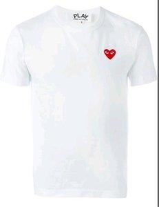 Mensentwerfer T-Shirts Commes OFF mit Herz-Sport-T-Shirts des garcons Weißes T-Shirt Pablo CDG PLAY für Sommer vetements Tees Tops