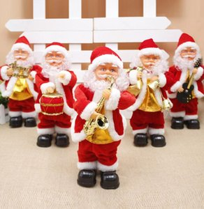 5style Electric Santa Claus Toy Christmas Electric Dancing Music Santa Claus Xmas Doll for Kids Party Christmas Decorations GGA3561