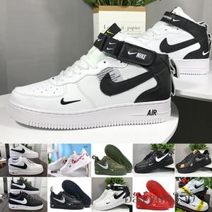 2020 Deri AF1 MANTAR Yeni Klasik 1 Beyaz Siyah Düşük Yüksek Cut Erkekler Kadınlar Sneakers Skate Ayakkabı biri Koşu Ayakkabı Numarası 36-46 BİZ-6K smaç