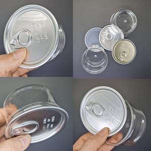 3.5g Klar PET Can Blumen Dry Kraut Dosen Ring-Pull-Aluminiumdeckel Gläser Food Grade 100ml Airtight Konzentrat Lebensmittel Savers Lagerbehälter