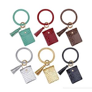 2020 new purse bracelet key chain PU tassel leather stone crocodile zero purse bracelet pendant