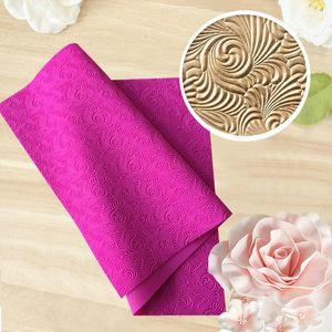 New Fondant Mould Spiral Pattern Lace Mat Impression Mats Silicone Lace Mat Cake Lace Mold Silicone Sugar Mat Decorative H857 T200524