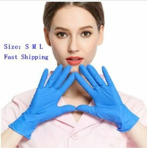 Disposable Blue Gloves Nitrile Material Acid-resistant Rubber Household Protection Cleaning Gloves Protective Gloves There are box AYP545