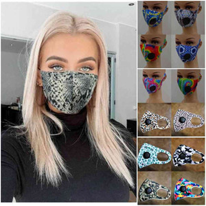 iN STOCK Adult Ice Silk Floral Printing Face Mask With Value Washable Protective Anti-dust Mask Polyester Face Mask FY00660