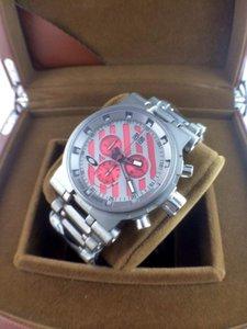 Herren Luxus beste Qualität Fabrik Quarzwerk Edelstahlwasserdicht Minute Machine Titanium Uhr Großes Rot 002 Zustand