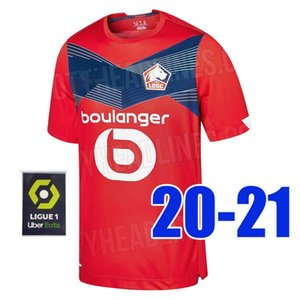 Thailand quality 20 21 Lille Soccer Jersey 2020 2021 home OSIMHEN REMY IKONE SANCHES ANDRE ARAUJO BAMBA football shirt Men + Kids