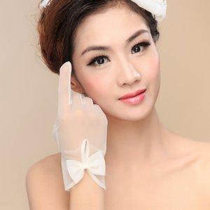New Korean Dress and gloves sunscreen tulle bride dress gloves