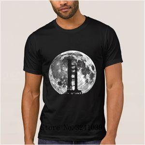 Anlarach fusée Casual saturn v apollo 11 t-shirt bande dessinée 2017 Saturn V Rocket hommes Lune T-shirt grande taille tee shirt homme