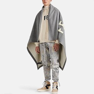 20SS FG Fashion Cloak Jacket Towel Embroidered Blanket High Street Classic Women Men Warm Outwear Casual Jackets Blanket HFYMJK315