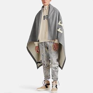 20ss FG Moda Mantello Giacca coperta asciugamano ricamato High Street Donna Uomo Classico caldo Outwear giacche casual Coperta HFYMJK315