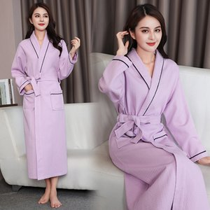 Women Long Bathrobe Cotton Antumn New Softy Nightgown Casual Full Sleeve Sleepwear Negligee Loose Lounge Home Dressing Gown