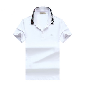 New Luxury Designer Polo Shirts Men Casual Polos Fashion Letter