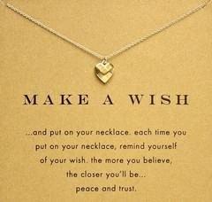 Catena 18 K placcato oro clavicola Bella Wishbone breve Collana pendente pendenti di collane per le donne Girls (senza carta di carta) EEtz #